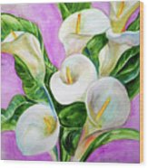 Calla Lillies 3 Wood Print