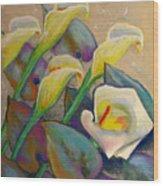 Calla Lily Design Wood Print
