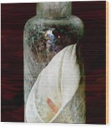 Calla Lily In A Bottle Wood Print