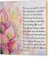 Callas   Poem Wood Print