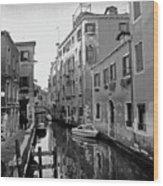 Calle A Venezia Wood Print