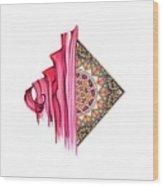 Calligraphy 24 3 Wood Print