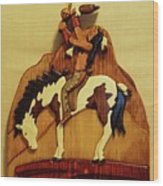 Calling The Great Spirit Wood Print by Russell Ellingsworth