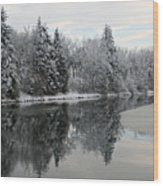 Calm And Frosty Wood Print