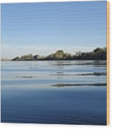 Calm And Tranquil Waters Wood Print