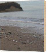 Calm Beach Sand Wood Print