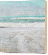 Calm Coast- Art By Linda Woods Wood Print