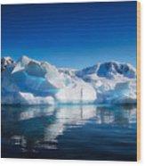 Calm Ice Wood Print