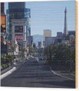 Calm On Vegas Strip Wood Print