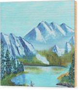 Calm Mountain Stream Wood Print