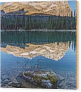 Calm O'hara Lake And Reflection At Sunrise Wood Print