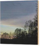 Calm On The Horizon Wood Print
