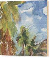 Calm Palms Wood Print