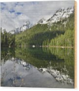 Calm Reflection On String Lake Wood Print