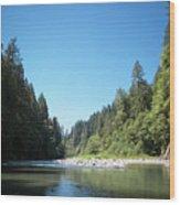 Calm Sandy River In Sandy, Oregon Wood Print