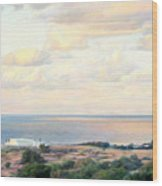 Calm Sea... View From My Balkon Wood Print