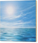 Calm Seascape Wood Print