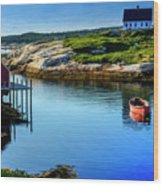Calm Water At Peggys Cove #3 Wood Print