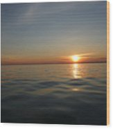 Calm Water Sunset Wood Print