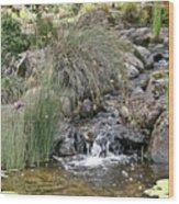 Calming Pond Wood Print