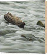 Calming Rapids  Wood Print
