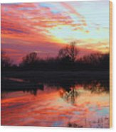 Calming Sunset Wood Print