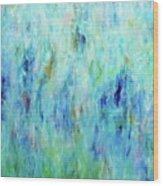 Calming Turquoise Wood Print