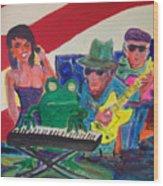 Calogs Frog Blues Band Wood Print
