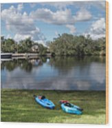Caloosahatchee Kayaking Wood Print