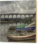 Calstock Viaduct Wood Print