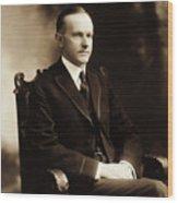 Calvin Coolidge Portrait Wood Print