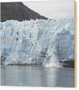 Calving Glacier Wood Print