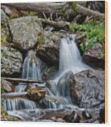 Calypso Cascades Wood Print by Brent Parks