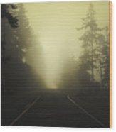 Camano Island Fog Wood Print
