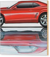 Camaro 2010 Reflects Old Red Wood Print