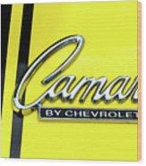 Camaro Wood Print