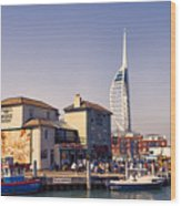 Camber Dock, Old Portsmouth Wood Print