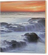 Cambria Coast Sunset Wood Print by Nolan Nitschke