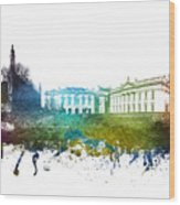 Cambridge Cityscape 01 Wood Print