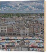 Cambridge Market Wood Print