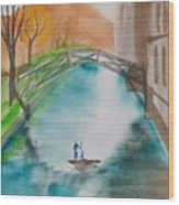 Cambridge River View Wood Print