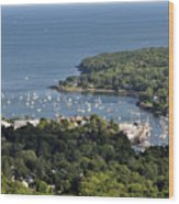 Camden Harbor Maine Wood Print