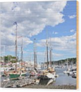 Camden Maine Harbor Wood Print