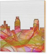 Camden Nj Skyline Wood Print