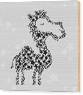 Camel Black Star Wood Print