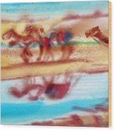 Camel Run Wood Print