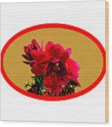 Camellia Bg Gold Wood Print