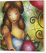 Camellia Lady Wood Print