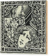 Lancelot And Guinevere Wood Print