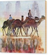 Camelrider Wood Print